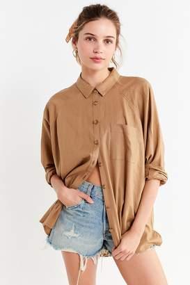 Urban Outfitters Brendan Button-Down Linen Shirt
