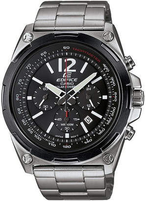 Casio Edifice Mens Black Dial Black Stainless Steel Solar Watch EFR545SBDB-1B