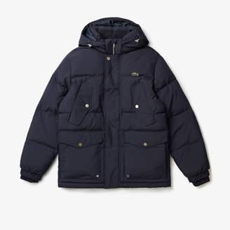 Lacoste Men's Detachable Hood Water-Resistant Quilted Jacket