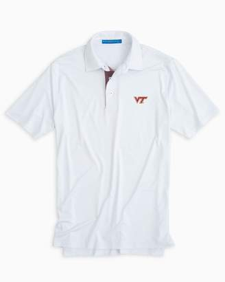 Southern Tide Virginia Tech Hokies Plaid Placket Polo Shirt