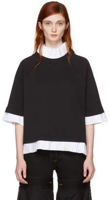Maison Margiela Black Mock Layered Sweatshirt