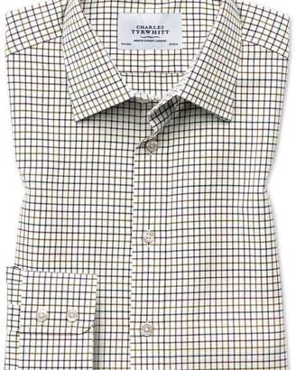 Charles Tyrwhitt Slim fit country check purple and green shirt