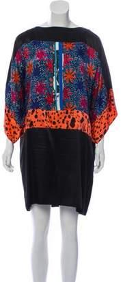 Duro Olowu Floral Mini Dress Black Floral Mini Dress