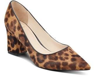 Marc Fisher Women's Zalaly Leopard Print Calf Hair Pumps