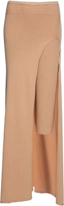Jacquemus Layered Rib Knit Midi Skirt