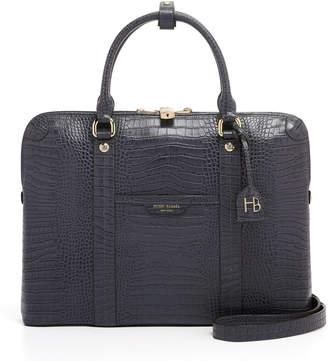 Henri Bendel West 57Th Croco Briefcase
