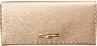 Longchamp Roseau Long Leather Wallet