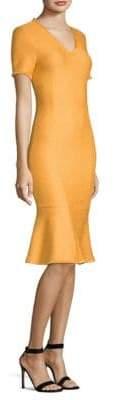 St. John Caris V-Neck Fit& Flare Dress