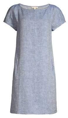 Eileen Fisher Chevron Organic Linen Dress