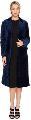 Sonia Rykiel Fluid Velvet Coat Women's Coat