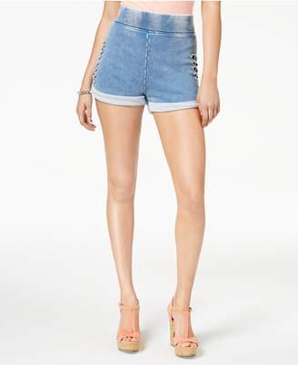 GUESS Andrea Cuffed Cutout Shorts