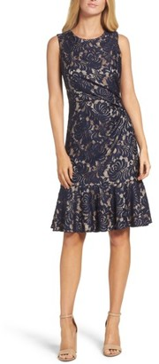 Women's Eliza J Lace Midi Dress $148 thestylecure.com