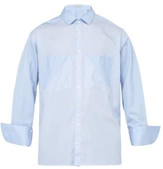 Palmer Harding Palmer//Harding Palmer//harding - Carl Double Patch Pocket Striped Cotton Shirt - Mens - Blue