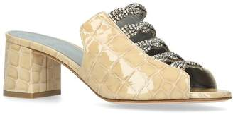 Gina Croc Leather Cosmos Mules 50