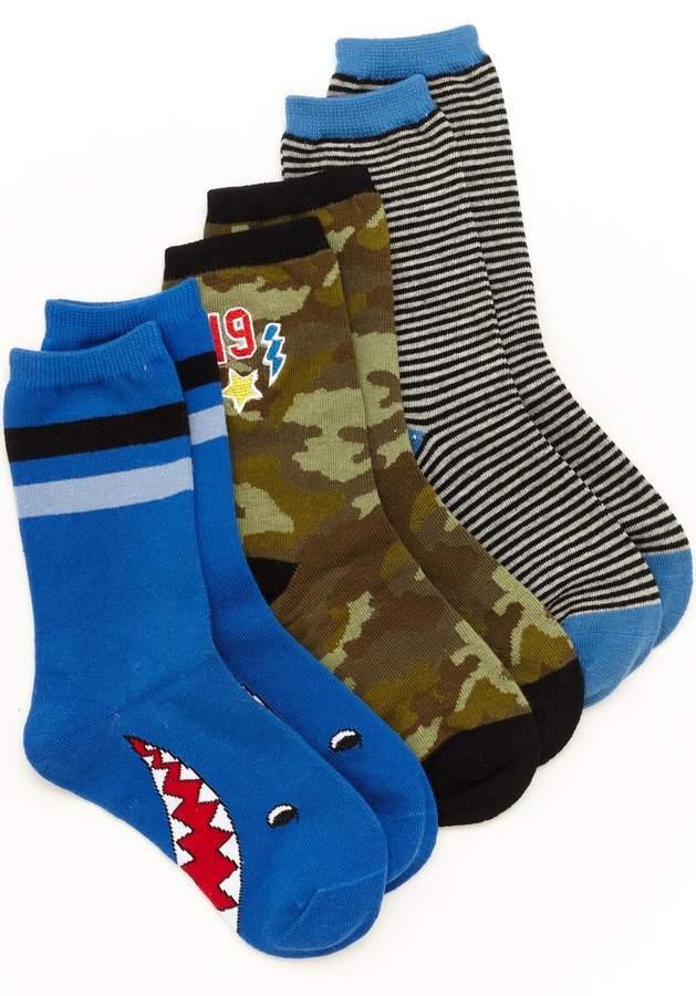 Stride Rite Preston Patches Crew Sock (3-Pack)