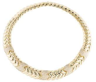 18K Diamond Chevron Necklace