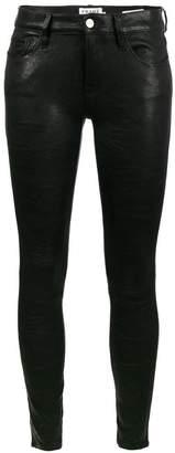 Frame Skinny Lambskin trousers