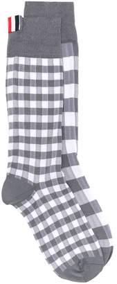 Thom Browne Fun-Mix Gingham Mid-Calf Socks