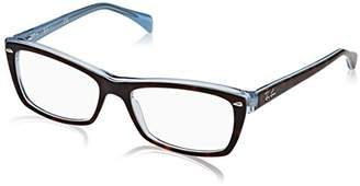 Ray-Ban Women's 0RX 5255 5023 Optical Frames, Brown (Top Havana Blue)
