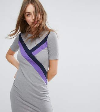 Monki Stripe Front T-Shirt Dress