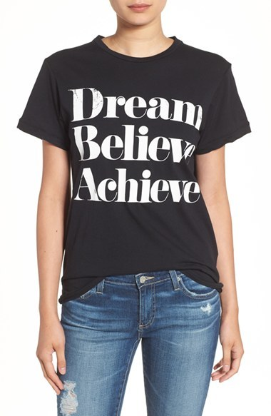 Women's Sincerely Jules 'Dream Believe Achieve' Graphic Tee