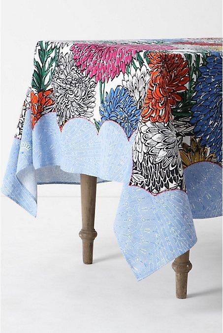 Zinnia Elegans Tablecloth, Rectangle