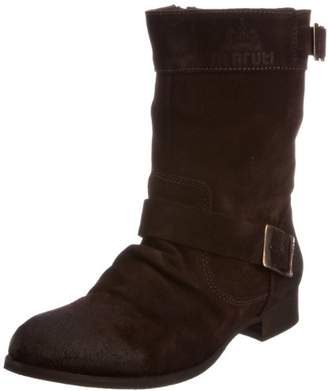 Maruti Women's Porto Brown Leather Suede Ankle Boot 66.30141.1054