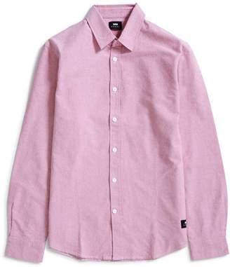 Edwin Cadet Cotton Oxford Shirt Red