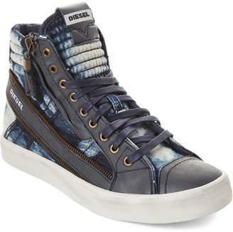 9dfee9f6be Diesel Indigo D-String Plus D-Velows High-Top Sneakers