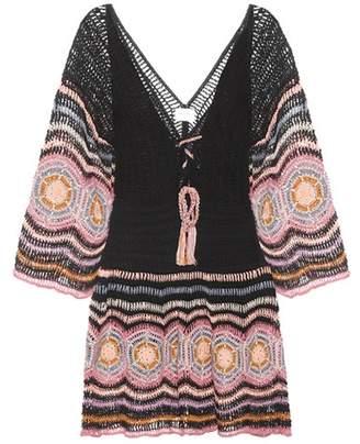Anna Kosturova Carly crocheted cotton minidress