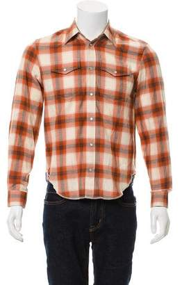 Maison Margiela Flannel Button-Up Shirt
