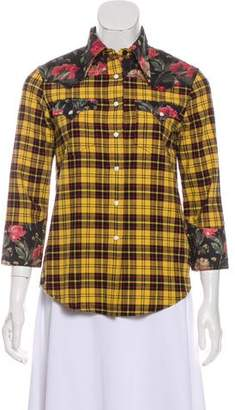 R 13 Plaid Cowboy Shirt w/ Tags