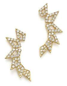 Bloomingdale's Diamond Geometric Ear Climbers in 14K Yellow Gold, .45 ct. t.w. - 100% Exclusive