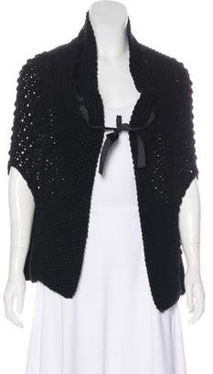 Behnaz Sarafpour Open Knit Wool Cardigan
