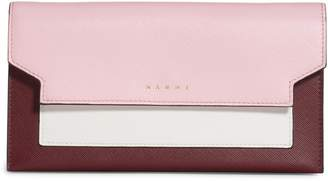 Marni Trunk Leather Crossbody Wallet