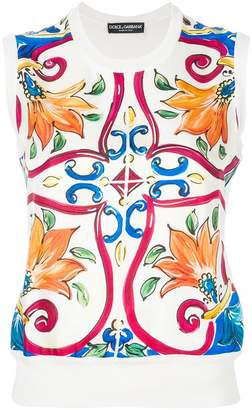 Dolce & Gabbana Sicilian print top