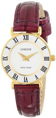 Jowissa Women's 'Roma Colori' Quartz Stainless Steel and Leather Casual Watch