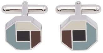 Prada Silver And Enamel Cufflinks