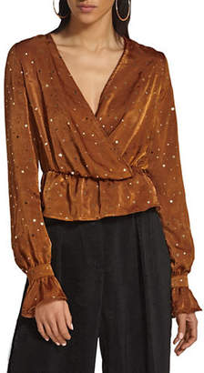 Missguided Star Bell-Sleeve Top