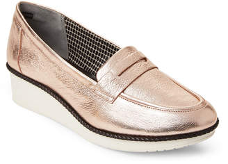 Robert Clergerie Rose Gold Valerie Wedge Loafers