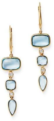 Olivia B 14K Yellow Gold Tiered Sky Blue Topaz & Diamond Drop Earrings - 100% Exclusive