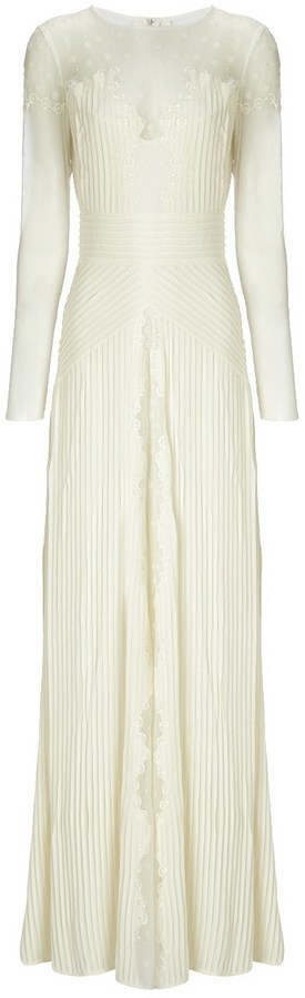 Temperley London Ivory Silk Deneuve Gown