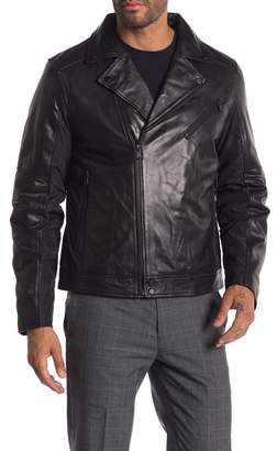 Campaign Black Lamb Leather Jacket