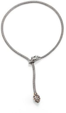 John Hardy Naga Sterling Silver & 18K Yellow Gold Dragon Lariat Necklace $995 thestylecure.com