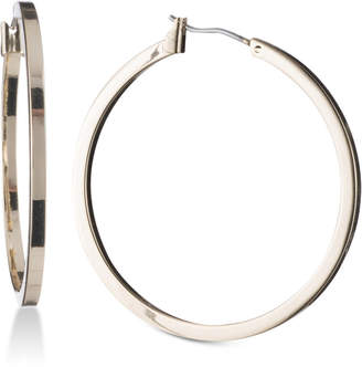 "DKNY 1 1/2"" Thin Hoop Earrings"