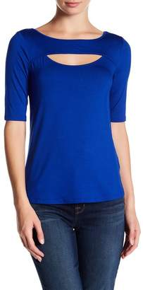 Cable & Gauge Cutout Elbow Sleeve Tee $50 thestylecure.com