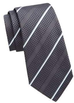 Emporio Armani Anthracite Striped Tie