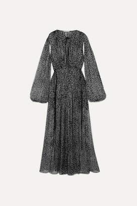 Stella McCartney Polka-dot Silk-blend Chiffon Gown - Black