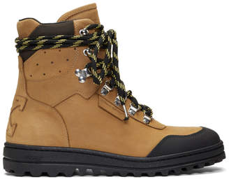 Off-White Off White Tan Hiking Boots