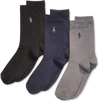Polo Ralph Lauren 3-Pk. Supersoft Flat Solid Crew Socks, Little Boys & Big Boys